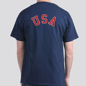 Vintage Team USA [back] Dark T-Shirt
